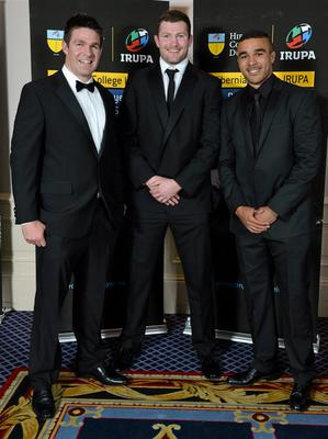 Munster players Billy Holland, Donnacha Ryan and Simon Zebo in attendance at the Hibernia College IRUPA Rugby Player Awards 2013. Burlington Hotel, Dublin. Picture credit: Brendan Moran / SPORTSFILE