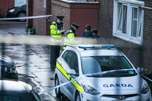 The scene of the fatal shooting of Jason Molyneaux in James Larkin House Flats, North Strand .