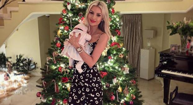 Rosanna Davison with baby daughter Sophia. Picture: Instagram