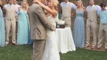 Glee actress Heather Morris wed long-term partner Taylor Hubbell in California in May. Picture: All Event Planning/Instagram