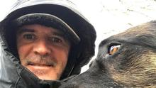 Roy Keane's first Instagram post was a selfie with his dog.