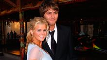 """Brian McFadden and Kerrry Katona attend the annual """"Silverstone Grand Prix Ball 2004"""" at Stowe House on July 9, 2004 in Buckingham, England"""