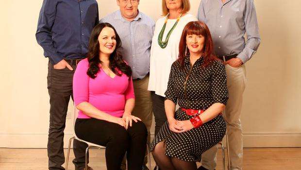 After: Eight weeks later and all is changed. From left: Pat Fitzpatrick, Triona McCarthy, John Drennan, Eleanor Goggin, Aine O'Connor and Brendan O'Connor. Photos: Gerry Mooney