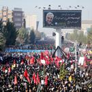 Iranian people attend a funeral procession and burial for Iranian Major-General Qassem Soleimani, head of the elite Quds Force, who was killed in an air strike at Baghdad airport, at his hometown in Kerman, Iran January 7, 2020. Mehdi Bolourian/Fars News Agency/WANA (West Asia News Agency) via REUTERS