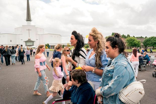 People at Knock Shrine, Knock, Co. Mayo expecting an apparition of the virgin Mary. Photo : Keith Heneghan / Phocus