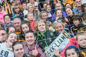 7/9/2015: Excited Kilkenny fans at Nowlan Park during the homecoming for the All Ireland Champions. Photo: Pat Moore.