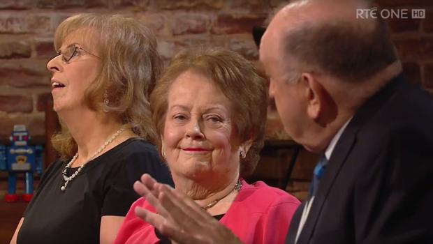 Mary O'Rourke with George Hook on The Late Late Show