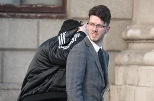 Claim: Dillon Breen, of Ferndale Avenue, Glasnevin, Dublin, leaves the Four Courts. Photo: Collins Courts