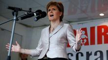 """Nicola Sturgeon, Scotland's first minister, has accused the Scottish secretary of """"dirty tricks"""" over the leak of the confidential memo which suggested she wanted David Cameron to remain as Britain's prime minister (REUTERS/Russell Cheyne)"""