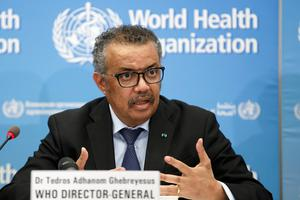 Time to focus: WHO Director General Dr Tedros Adhanom Ghebreyesus says mortality rates will rise in the months ahead. Photo: Salvatore Di Nolfi/Keystone via AP