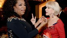Oprah and Helen Mirren at the Golden Globes