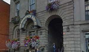 The well-known Merchant's Arch in Temple Bar