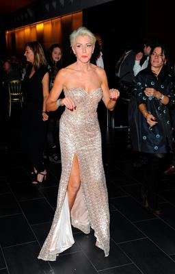 Heather Mills dancing at 'An Evening With Suggs And Friends' in aid of pancreatic cancer at Emirates Stadium on March 17, 2016 in London, England.  (Photo by Eamonn M. McCormack/Getty Images)