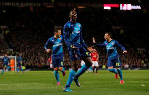 Arsenal's Danny Welbeck celebrates scoring their second goal Action Images via Reuters / Jason Cairnduff