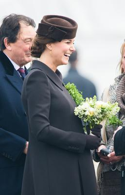 Catherine, Duchess of Cambridge attends the St Patrick's Day Parade at Mons Barracks on March 17, 2015 in Aldershot, England.  (Photo by Samir Hussein/WireImage)