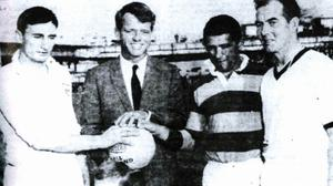 Mickey Whelan with Bobby Kennedy in 1968