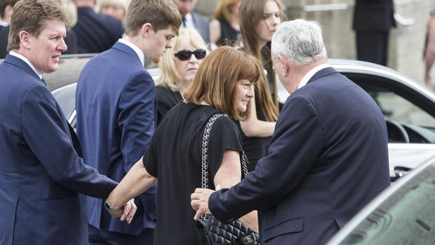 Paula and Paul Burke at their daughter Olivia funeral Mass at Our Lady of Perpetual Succour, Foxrock. Pic:Mark Condren