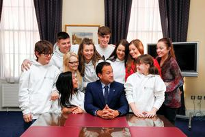 Pictured at the appointment of the Design Team for the new children's hospital was Minister for Health Leo Varadkar TD with members of the Youth Advisory Council