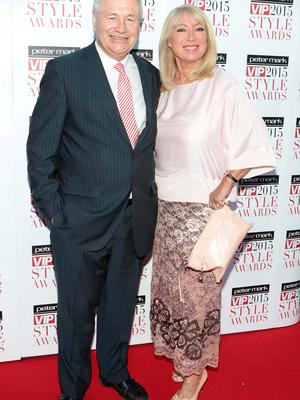 Dan McGrattan and Anne Doyle on the Red Carpet at The Peter Mark VIP Style Awards 2015