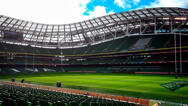 If Ireland beat Wales tonight, they could win the championship with a victory over Eddie Jones's side at the Aviva Stadium. Photo by Stephen McCarthy/Sportsfile