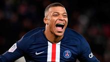 Kylian Mbappe scored twice as Paris Saint-Germain moved 13 points clear at the top of Ligue 1. Photo: Franck Fife/AFP via Getty Images