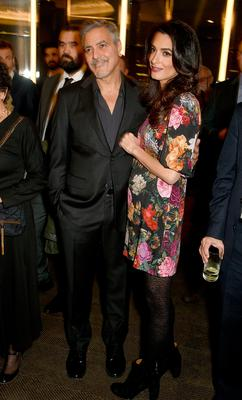 George and Amal Clooney attend the Netflix special screening and reception of The White Helmets hosted by The Clooney Foundation For Justice with George and Amal Clooney, at the Bvlgari Hotel on January 9, 2017 in London, England.  (Photo by David M. Benett/Dave Benett/Getty Images for Netflix )