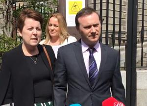 Ruth Morrissey and husband Paul outside Dublin's High Court in 2019 (Michelle Devane/PA)