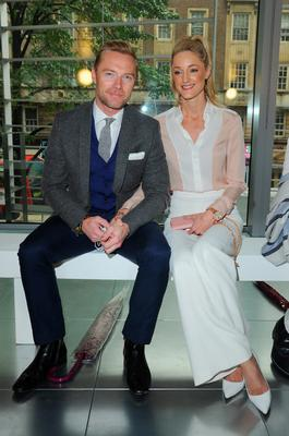 Ronan Keating and Storm Uechtriz attend the Amanda Wakeley show during London Fashion Week Spring/Summer 2016 on September 22, 2015 in London, England.  (Photo by Eamonn M. McCormack/Getty Images)