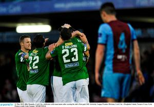 11 May 2015; Billy Dennehy, Cork City, celebrates with team-mates after scoring his side's first goal. SSE Airtricity League Premier Division, Cork City v Drogheda United, Turners Cross, Cork. Picture credit: Eoin Noonan / SPORTSFILE