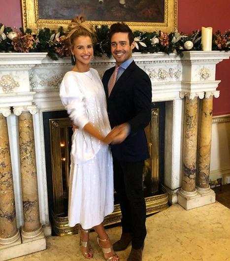 Vogue Williams and Spencer Matthews spent Christmas at Carton House in Kildare. Picture: Instagram