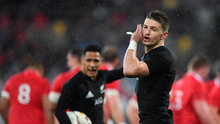 1 July 2017; Beauden Barrett of New Zealand during the Second Test match between New Zealand All Blacks and the British & Irish Lions at Westpac Stadium in Wellington, New Zealand. Photo by Stephen McCarthy/Sportsfile