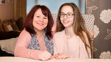 Megan Halvey-Ryan with her mum Sharon Halvey Photo: Liam Burke/Press 22