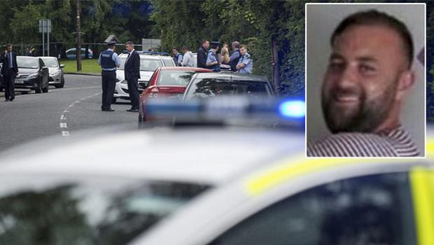 The scene of the shooting, inset, Keith Walker