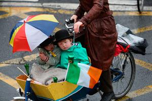 Participants take part in the St Patrick's Day parade on the streets of Dublin Photo: Brian Lawless/PA Wire