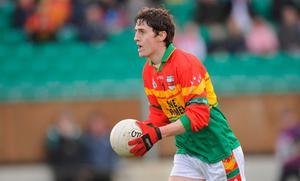 Ray Walker started all four of Carlow's league games this spring. Photo: Paul Mohan/SPORTSFILE