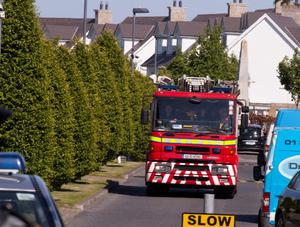 Gardai are investigating the death of a man and the critical injury of another in an industrial accident at Drumnigh Wood estate in Portmarnock. Picture: Arthur Carron