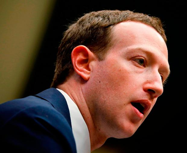Mark Zuckerberg testifies before a House Energy and Commerce Committee hearing regarding the company's use and protection of user data on Capitol Hill. Photo: REUTERS/Aaron P. Bernstein