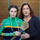 Agony: Amy Lynam (12), who suffers from complex regional pain syndrome, with her mother Pam. Photo: Mark Condren