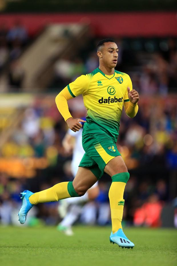 Adam Idah in action on his Premier League debut against Crystal Palace