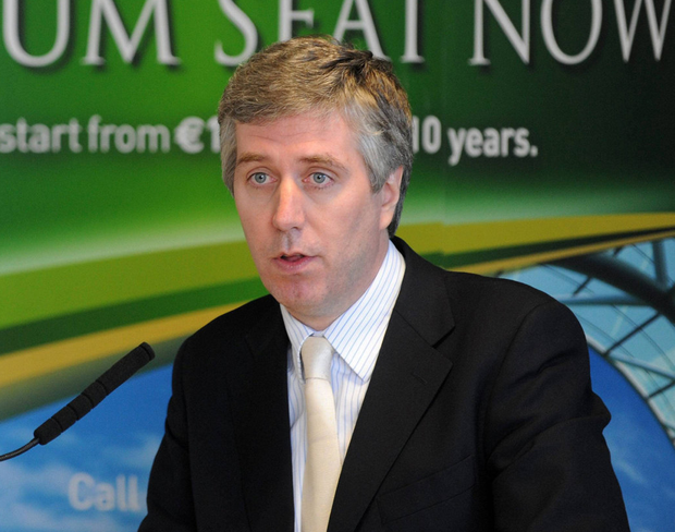 John Delaney at the launch of a Vantage Club initiative in Ringsend in March 2009. Photo: Pat Murphy/Sportsfile