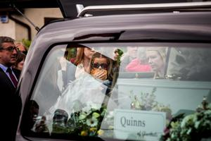 Mourners at the funeral mass in Dalkey of Ana Hick who died after collapsing outside Twisted Pepper  Pic:Mark Condren 20.5.2015