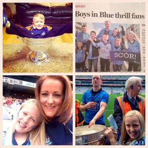 Sam in the Sam road to all Ireland final day & Mya with the Delaney cup #COYBIB  - Linda Breen sends it from @lindamcgrath26