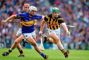 Paul Murphy in action against Tipperary forward Patrick 'Bonner' Maher