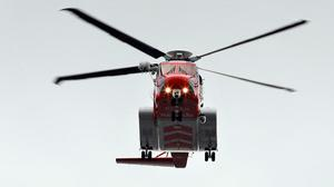 Rescue 118 helicopter Stock picture