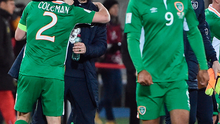 Ireland manager Martin O'Neill with Seamus Coleman