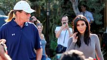 Kim Kardashian and Bruce Jenner are seen filming  their reality show