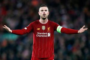 Liverpool captain Jordan Henderson helped organise what is a collective, league-wide effort to raise money for the NHS. Martin Rickett/PA Wire.