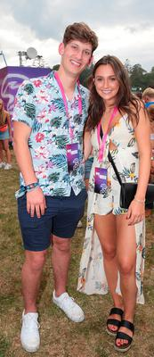 Jack Grealish and Lauren Walsh at Three's #MadeByMusic base at Longitude. Over the weekend a line-up of top Irish DJ collectives celebrated connections 'Made By Music'.  Picture: Brian McEvoy No Repro fee for one use