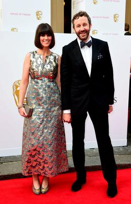 Dawn O'Porter and Chris O'Dowd arrive for the House of Fraser British Academy of Television Awards (BAFTA) at the Theatre Royal, Drury Lane in London. Photo: Ian West/PA Wire
