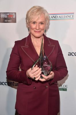 LOS ANGELES, CA - FEBRUARY 21:  Glenn Close attends Oscar Wilde Awards 2019 on February 21, 2019 in Los Angeles, California.  (Photo by Alberto E. Rodriguez/Getty Images for US-Ireland Alliance)